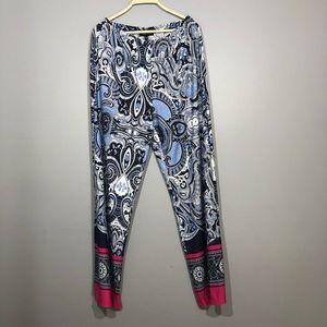 Melissa Paige Blue Paisley Sleepwear Pajama Pants